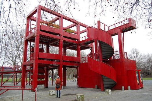 parc de la villette bernard tschumi new age architecture. Black Bedroom Furniture Sets. Home Design Ideas