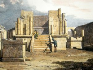 James Duffield Harding, Lithograph of a Classical Ruin at Pompeii, Italy, 1828, Albion Prints