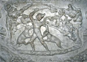 Actaeon Transforming. Detail of Actaeon Sarcophagus. 1st century CE. Musée du Louvre, Paris, France.