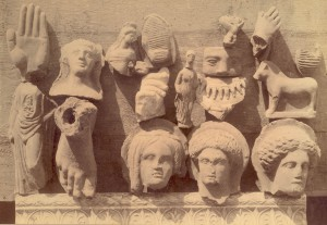 Anatomical votive offerings found at the sanctuary.