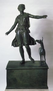 Diana, Goddess of the Hunt. c. 50 BCE. Bronze with silver inlays. 49 1/4 x 23 13/16 x 15 1/4 (w base). © Artists Rights Society (ARS), New York Image: Copyright Albright-Knox Art Gallery