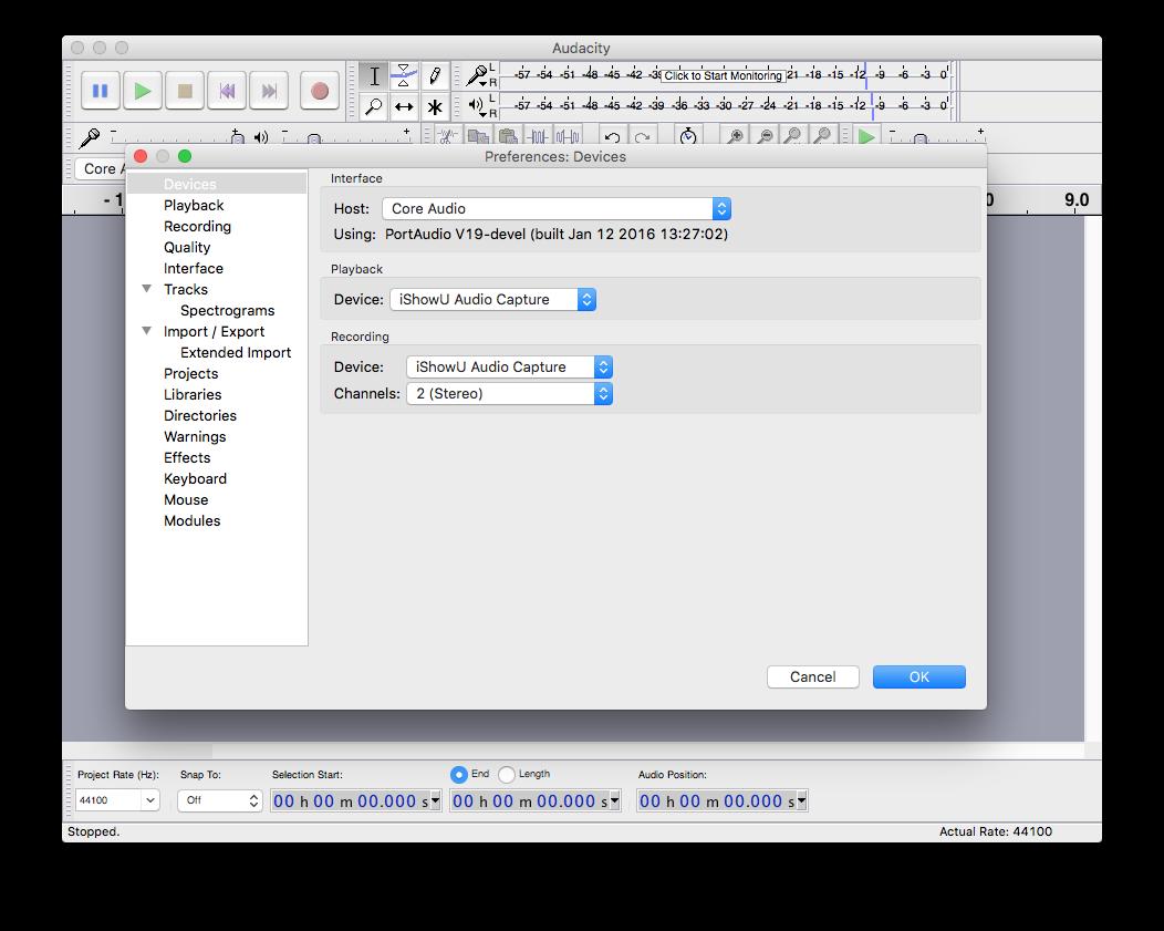 iShowU Audio Capture and Audacity for Recording Audio – MEWS