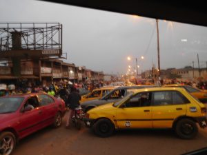 Forget uber, the roads in Yaoundé are filled with taxis! Taxis everywhere!
