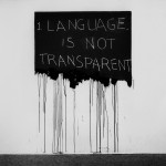 Mel Bochner, Language is Not Transparent (1970)