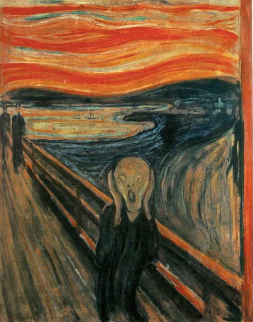Edvard Munch, The Scream, 1893 National Gallery Oslo Norway