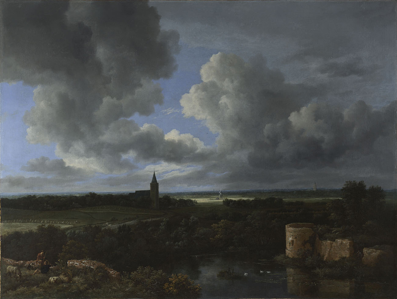 Jacob van Ruisdael, 1628/9? - 1682 A Landscape with a Ruined Castle and a Church about 1665-70 Oil on canvas, 109 x 146 cm Wynn Ellis Bequest, 1876 NG990 http://www.nationalgallery.org.uk/paintings/NG990