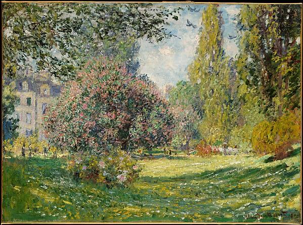 Claude Monet, Landscape, The Parc Monceau, 1876, The Metropolitan Museum of Art