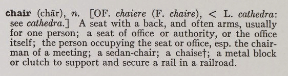 One and Three Chairs Text