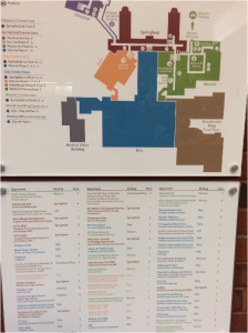 Image of a color coded map at Baystate Medical Center.